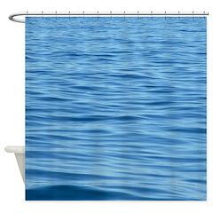 Peaceful Ocean Ripples Shower Curtain