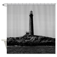 Thatcher Island Lighthouse Shower Curtain