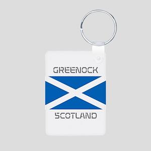 Greenock Scotland Aluminum Photo Keychain