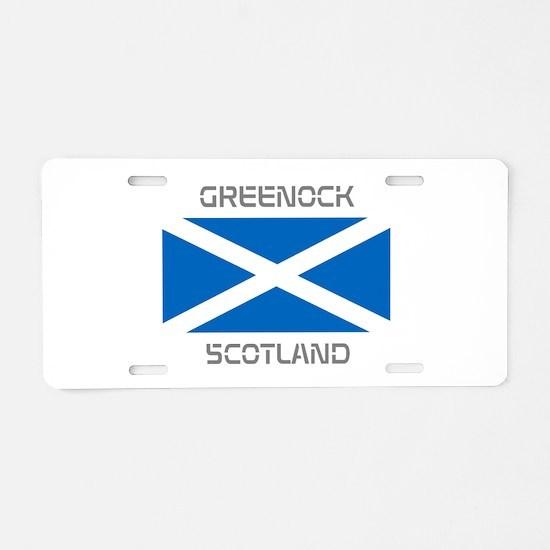 Greenock Scotland Aluminum License Plate