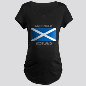 Greenock Scotland Maternity Dark T-Shirt