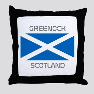 Greenock Scotland Throw Pillow