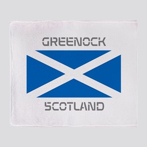Greenock Scotland Throw Blanket