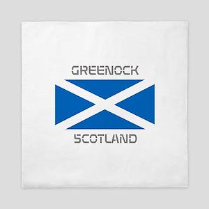 Greenock Scotland Queen Duvet