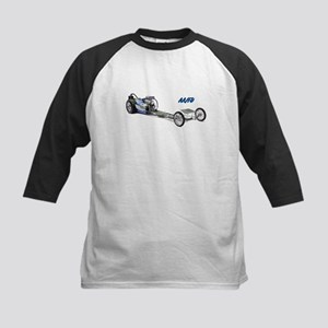 Blue Fuel Dragster Baseball Jersey