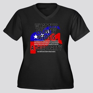 Third Party Outlined Plus Size T-Shirt
