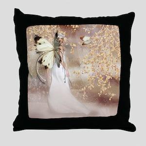 Fantasy Fairy Imbolc Spirit Throw Pillow