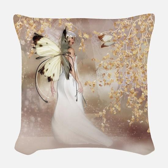 Fantasy Fairy Imbolc Spirit Woven Throw Pillow