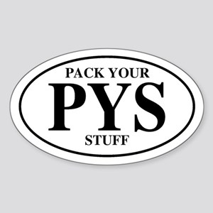 Pack Your Stuff Oval Sticker