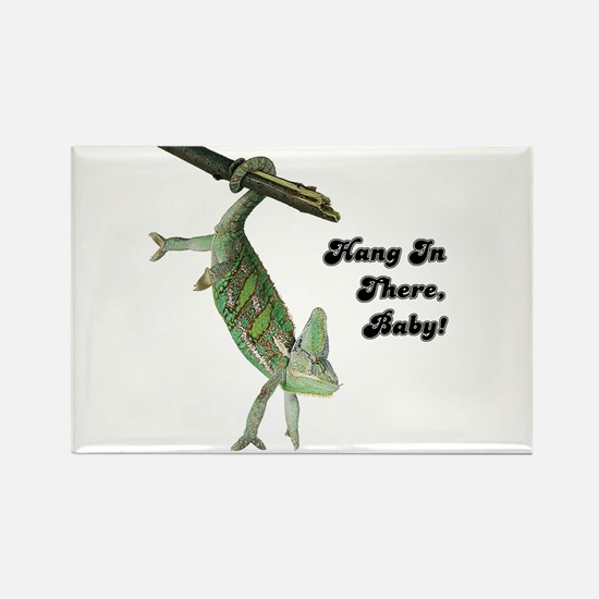 Hang In There Chameleon Rectangle Magnet