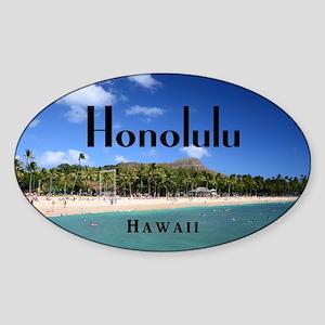 Honolulu Sticker (Oval)