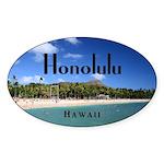 Honolulu Sticker (Oval 50 pk)