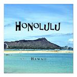 """Honolulu Square Car Magnet 3"""" x 3"""""""