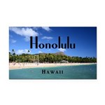 Honolulu Rectangle Car Magnet