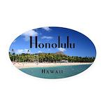 Honolulu Oval Car Magnet