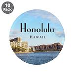 "Honolulu 3.5"" Button (10 pack)"