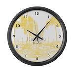 Honolulu Large Wall Clock