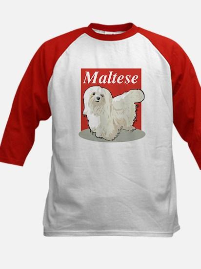 Maltese Title Kids Baseball Jersey