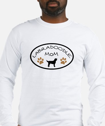 Labradoodle Mom Oval Long Sleeve T-Shirt