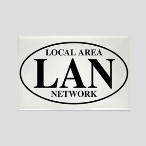 Local Area Network Rectangle Magnet