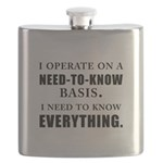 Need to Know (black) Flask