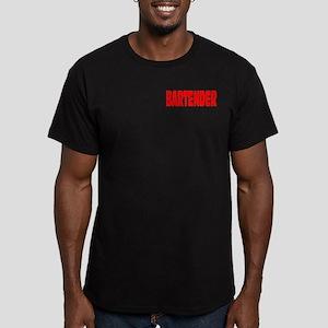 Bartender Men's Fitted T-Shirt (dark)
