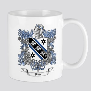 Brown Family Crest 4 Mugs