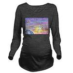 Let Go-Dove-World Long Sleeve Maternity T-Shirt