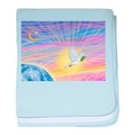 Let Go-Dove-World baby blanket