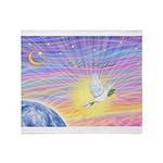 Let Go-Dove-World Throw Blanket