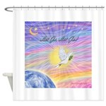Let Go-Dove-World Shower Curtain