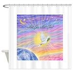 Let Go-Dove-World Shower Curtain