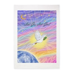 Let Go-Dove-World 5'x7'Area Rug