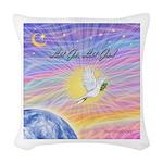 Let Go-Dove-World Woven Throw Pillow