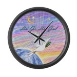 Let Go-Dove-World Large Wall Clock