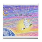 Let Go-Dove-World Tile Coaster