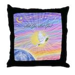 Let Go-Dove-World Throw Pillow