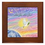 Let Go-Dove-World Framed Tile