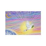 Let Go-Dove-World Rectangle Magnet (100 pack)