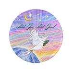 "Let Go-Dove-World 3.5"" Button"