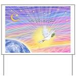 Let Go-Dove-World Yard Sign
