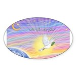 Let Go-Dove-World Sticker (Oval 10 pk)