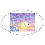 Let Go-Dove-World Sticker (Oval 50 pk)