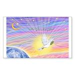 Let Go-Dove-World Sticker (Rectangle 10 pk)