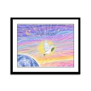 Let Go-Dove-World Framed Panel Print