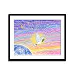Let Go-Dove-World Framed Panel Print