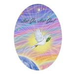 Let Go-Dove-World Ornament (Oval)