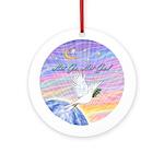Let Go-Dove-World Ornament (Round)