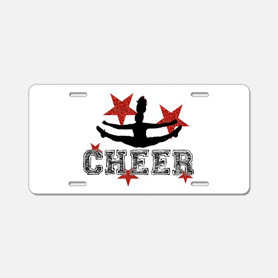 Cheerleader Aluminum License Plate