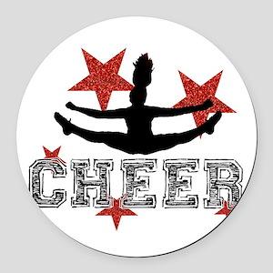 Cheerleader Round Car Magnet